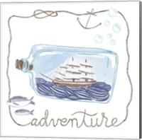 Ship in a Bottle Adventure Fine Art Print