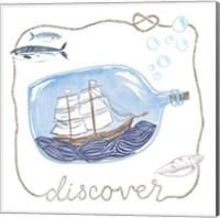 Ship in a Bottle Discover Fine Art Print