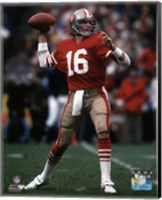 Joe Montana 1984 NFC Championship Game Action Fine Art Print