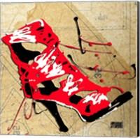 Red Strap Boot Fine Art Print