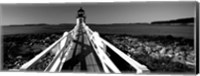 Marshall Point Lighthouse, built 1832, rebuilt 1858, Port Clyde, Maine Fine Art Print