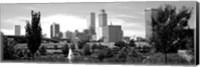 Downtown skyline from Centennial Park, Tulsa, Oklahoma Fine Art Print