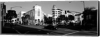 Car moving on the street, Rodeo Drive, Beverly Hills, California Fine Art Print