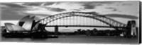 Sydney Harbour Bridge At Sunset, Sydney, Australia Fine Art Print