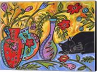 Flower Shop Catnap Fine Art Print