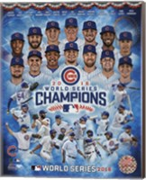 Chicago Cubs 2016 World Series Champions Composite Fine Art Print
