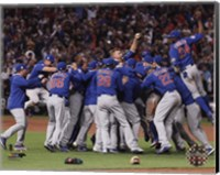 The Chicago Cubs celebrate winning Game 7 of the 2016 World Series Fine Art Print