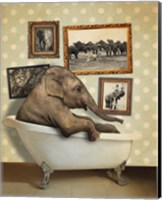 Elephant In Tub Fine Art Print