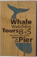 Whale Sign On Wood 1 Fine Art Print