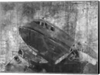 Vintage Airplane Black and White Fine Art Print