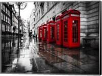 London Phone Booths Fine Art Print