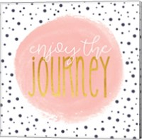 Enjoy the Journey - Blush Pink Fine Art Print