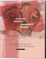 Heart Collage Fine Art Print