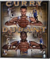 Stephen Curry & Kevin Durant 2016 Portrait Plus Fine Art Print