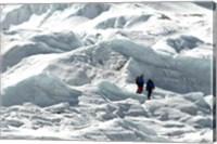 Climbers Return to Base Camp from Khumbu Icefall climbing, Mt Everest Fine Art Print