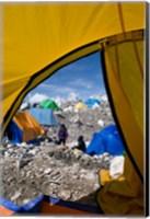 Tents of Mountaineers , Mt Everest, Nepal Fine Art Print