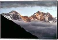 Nepal, Sagarmatha NP, Mt Everest, Lotse and Nuptse Fine Art Print