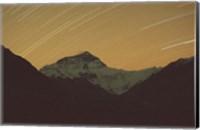 Mt Everest with Stars, Tibet Fine Art Print