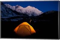 First Light on Mt Everest From the Kangshung, Tibet Fine Art Print