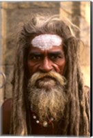 Close-up of Religious Man in Kathmandu, Nepal Fine Art Print