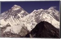 Mt. Everest seen from Gokyo Valley, Sagarnatha National Park, Nepal. Fine Art Print