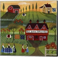 Red Barn Quilters Fine Art Print