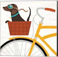 Beach Bums Dachshund Bicycle I Fine Art Print