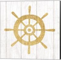 Beachscape VI Helm Gold Neutral Fine Art Print