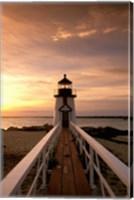 Brant Point lighthouse at Dusk, Nantucket Fine Art Print