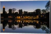 Midtown Skylines and Lake, Atlanta Fine Art Print