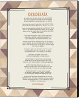 Desiderata Triangle Pattern Frame Beige Fine Art Print