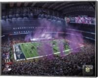 NRG Stadium after the New England Patriots won Super Bowl LI Fine Art Print