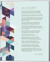 Desiderata Abstract Geometric Background Fine Art Print