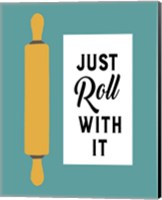 Retro Kitchen III - Just Roll With It Fine Art Print