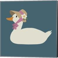 Duck Family Mom Fine Art Print
