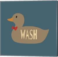 Duck Family Boy Wash Fine Art Print