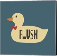 Duck Family Boy Flush Fine Art Print