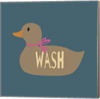 Duck Family Girl Wash Fine Art Print