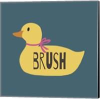 Duck Family Girl Brush Fine Art Print