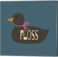 Duck Family Girl Floss Fine Art Print