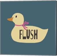 Duck Family Girl Flush Fine Art Print