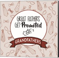 Great Fathers Get Promoted to Grandfathers Red Fine Art Print