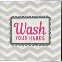 Wash Your Hands Gray Pattern Fine Art Print