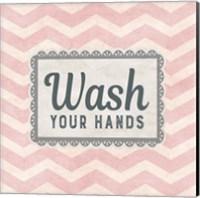 Wash Your Hands Pink Pattern Fine Art Print
