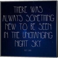 Night Sky - Fritz Leiber Quote Fine Art Print