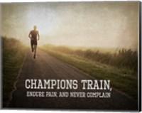 Champions Train Man Color Fine Art Print