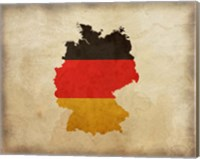 Map with Flag Overlay Germany Fine Art Print