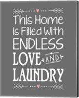 Endless Love and Laundry - Gray Fine Art Print