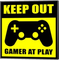 Keep Out Gamers At Play Fine Art Print