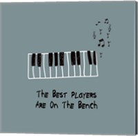 The Best Players Are On The Bench Blue Fine Art Print